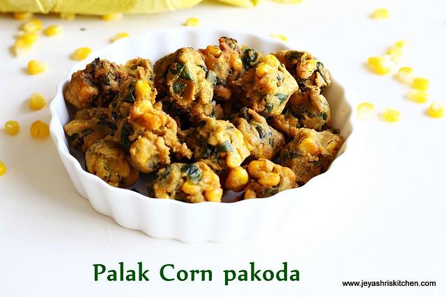 Corn-palak-pakora