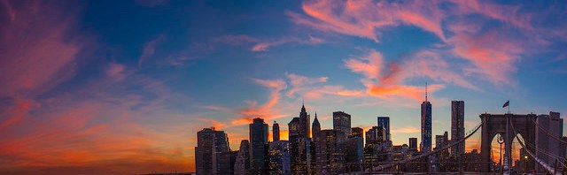 New York City Sunset Panoramic 2014