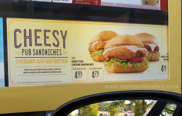 Sonic Cheesy Pub Sandwiches