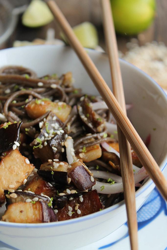 recette nouilles soba sautées