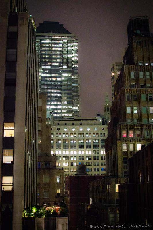 new york buildings night