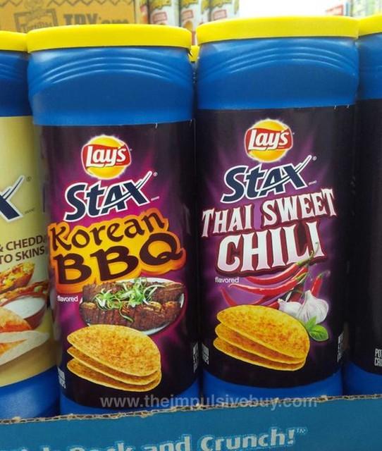 Lay's Stax Korean BBQ and Thai Sweet Chili