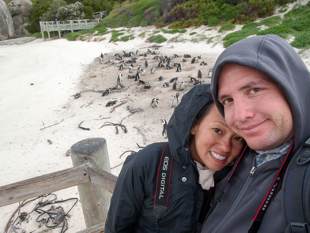 Selfie at the Boulders Penguin Colony, South Africa.