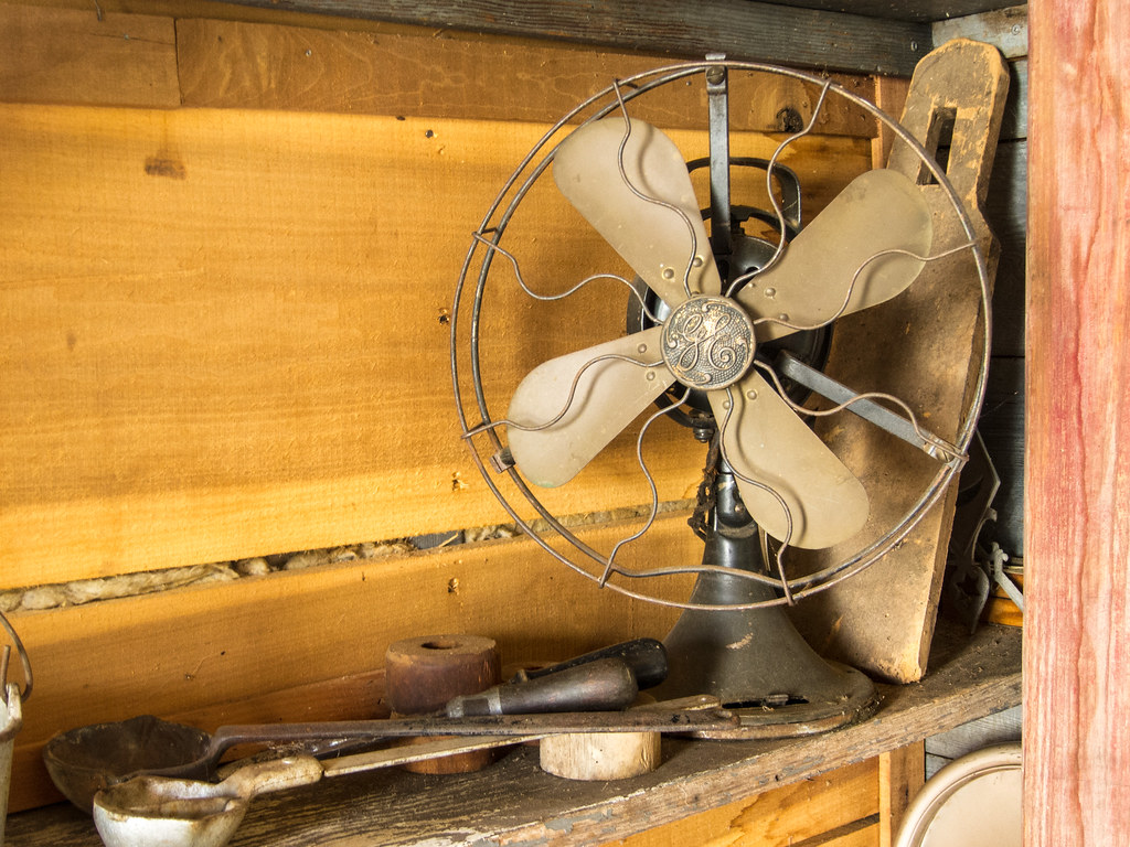 Still life with fan