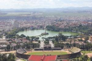 le lac artificiel Anosy Antananarivo