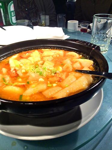 豊華小館豆腐の蟹みそ煮込み