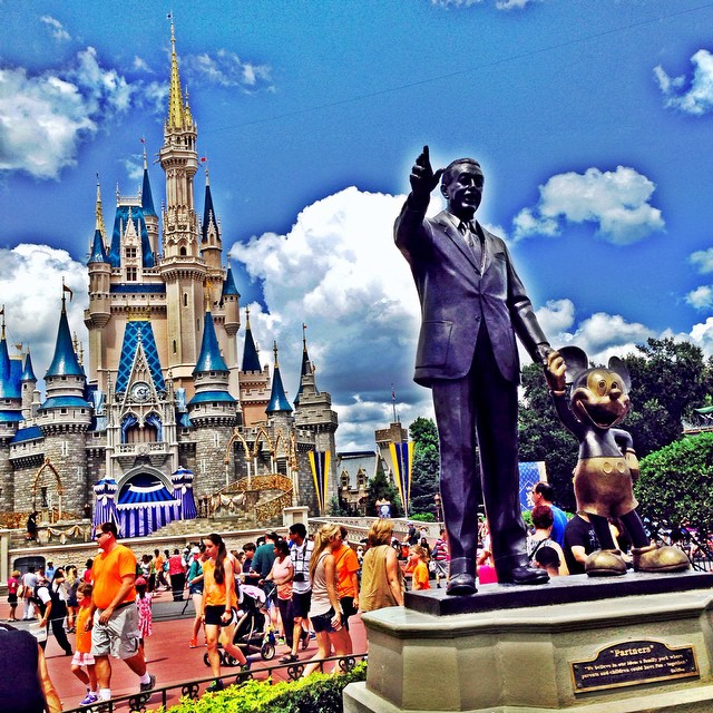Our last day in#orlando of #dinearounddisney2014 and spending it in #magickingdom #waltdisneyworld