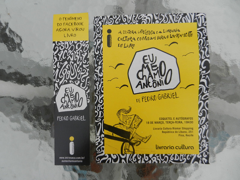 Autógrafo de Pedro Gabriel