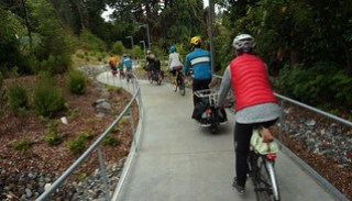 Riders on the Seattle Children's Livable Streets Burke-Gilman trail connector
