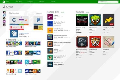 Windows Store บน Microsoft Surface Pro 3