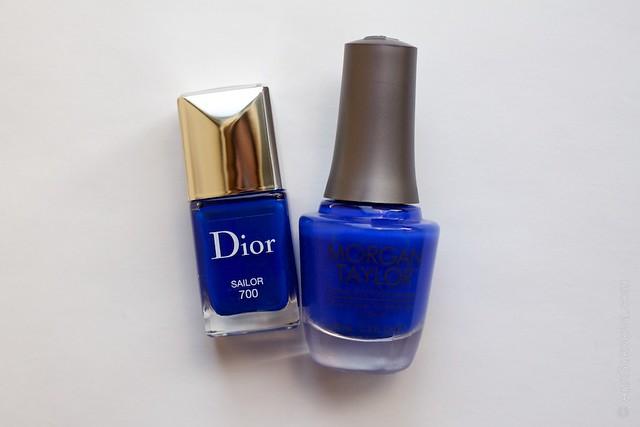 Dior #700 Sailor vs Morgan Taylor Making Waves comparison