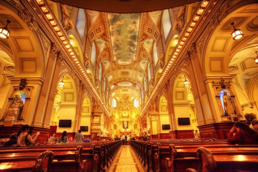 Inside Notre Dame, Quebec City.