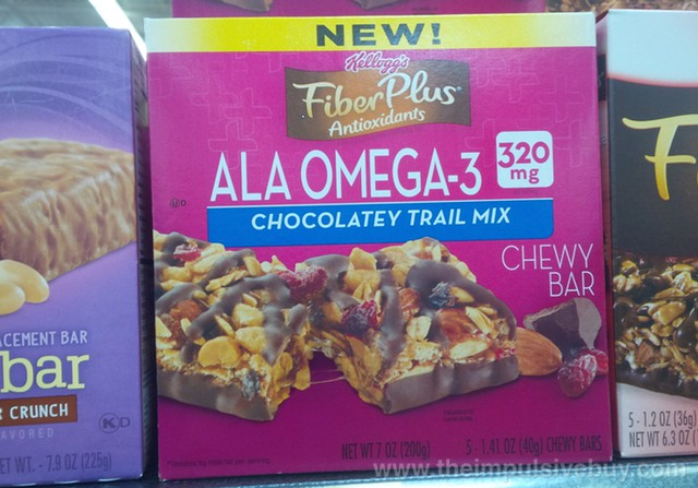 Kellogg's Fiber Plus Antioxidants ALA Omega-3 Chocolatey Trail Mix