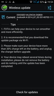 Wireless Update หรือ OTA