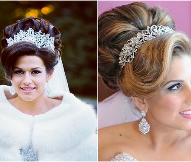 Bridal Styles Brides With Regal Updos