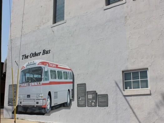 Trailways Freedom Riders Mural, Annison AL