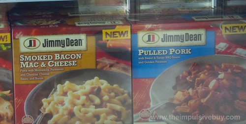Jimmy Dean Smoked Bacon Mac & Cheese and Pulled Pork