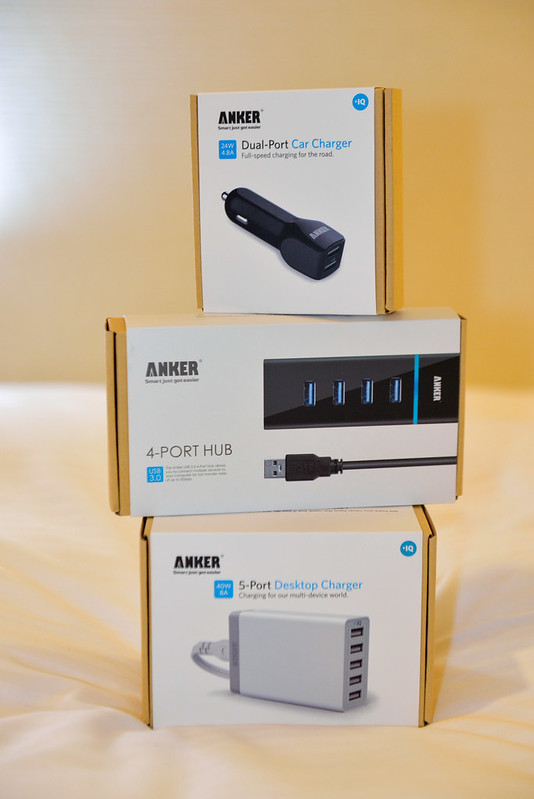【ANKER 三劍客】車充、USB 3.0 Hub、5-Port USB 充電器