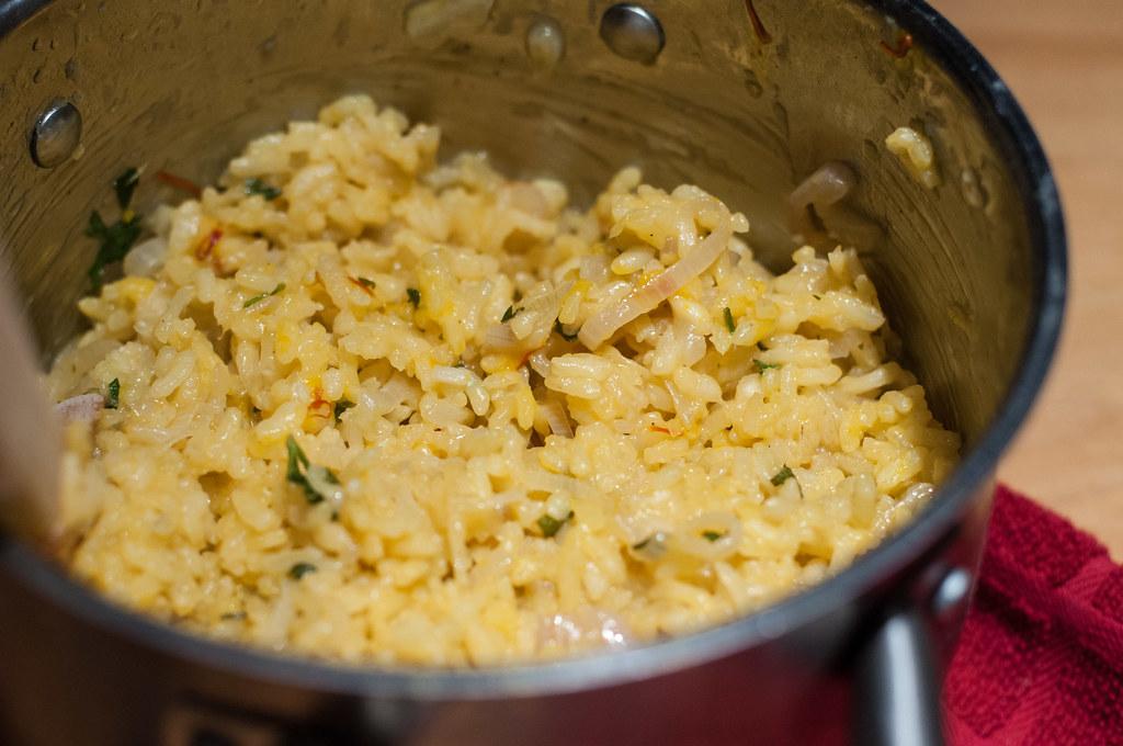 Lemon saffron risotto-style rice