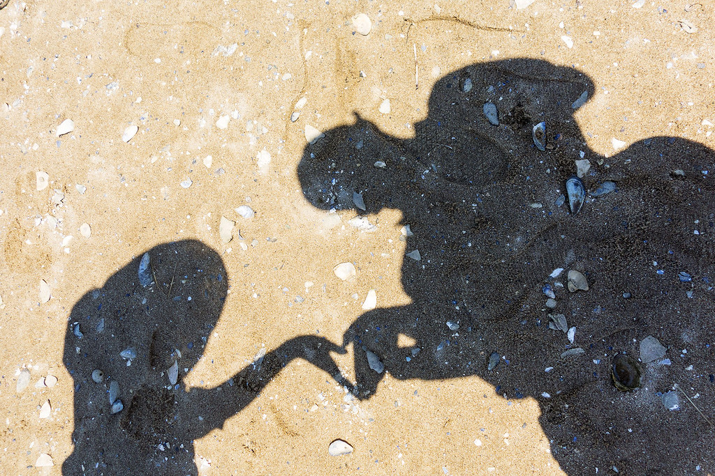 Love shadow, Wood End Beach, Cape Cod.