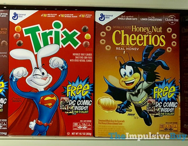 General Mills DC Comics Superhero Boxes (Trix and Honey Nut Cheerios)