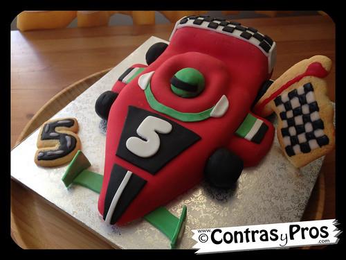 Tarta fondant coche Fórmula 1