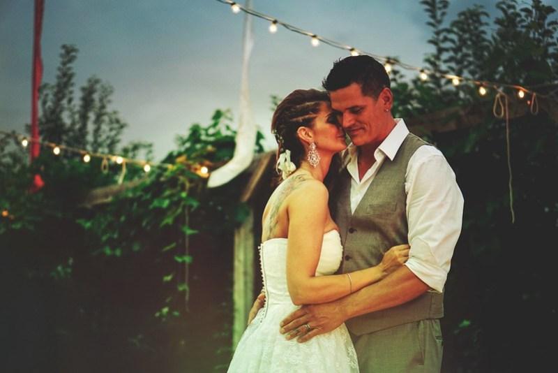 Log ceremony wedding from Offbeat Bride