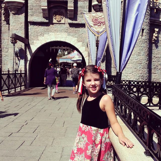 Love walking through Cinderella's castle! #Disneyland #Homeschool