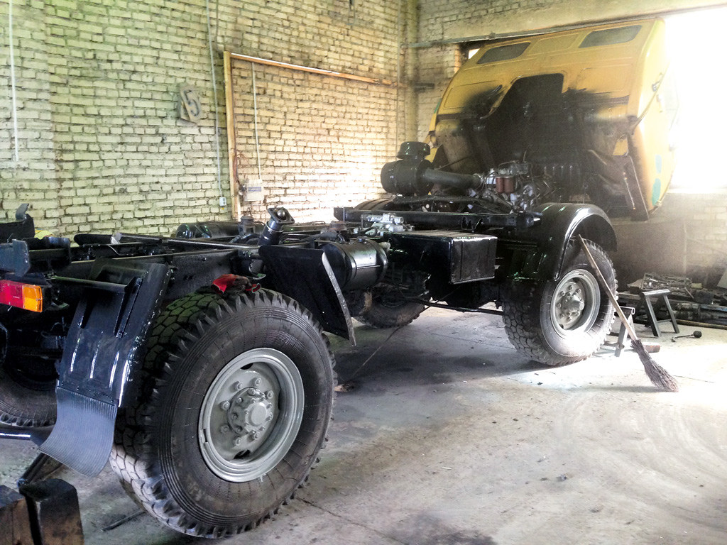 Процесс восстановления КАЗ-4540