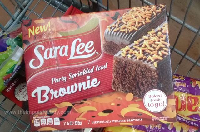 Sara Lee Party Sprinkled Iced Brownie