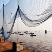 India - Maharashtra - Mumbai - Seaside - Fishing Net.
