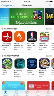 App ต่างๆ สำหรับระบบปฏิบัติการ iOS