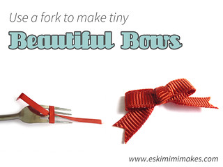 How To Make Tiny Bows Using A Fork