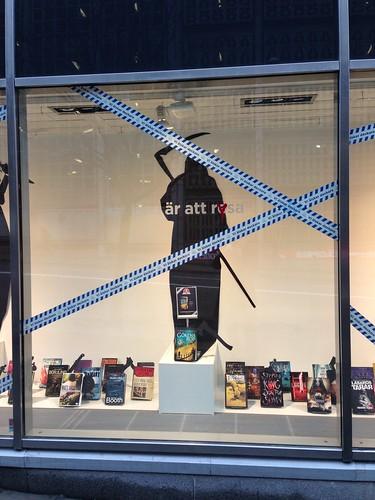 Display window @ Stockholm Bookstore #2