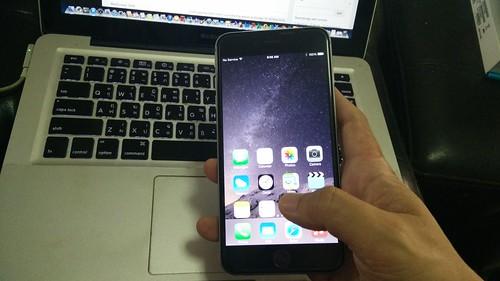 One-hand Operation ของ iPhone 6 Plus