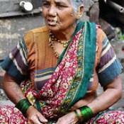India - Maharashtra - Mumbai - Old Woman.