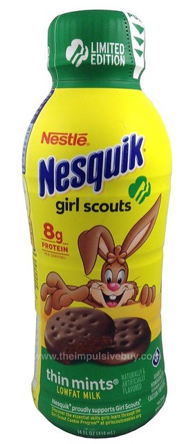 Nestle Nesquik Limited Edition Girl Scouts Thin Mints Milk
