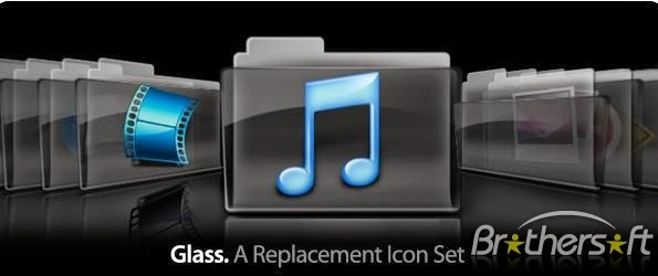 Glass Folder Icons for Mac