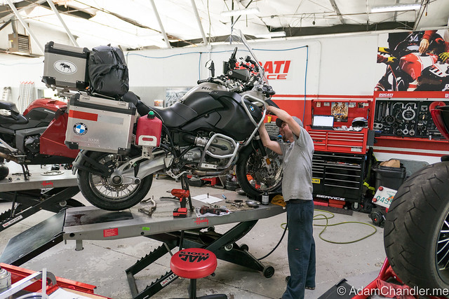 BMW Motorcycle of Jacksonville - BEAMR getting 18K Mile service
