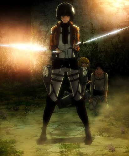 Mikasa_threatens_the_soldiers
