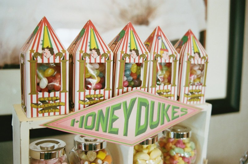 Honeydukes sweetie table