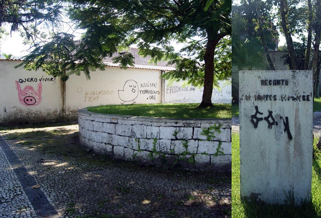 Praças são alvos de furtos de placa de bronze e prefeitura não repõe identificação 9