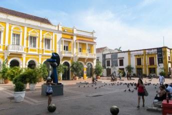 Dit is plaza de San Pedro in het ommuurde historisch centrum.