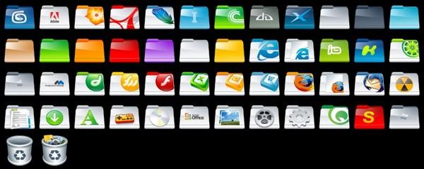 Full Folder Icons: 32 Packs
