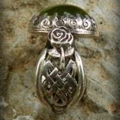 Aine of Knockaine Róisín Dubh Peridot, Fairy ,and Rose Celtic Band ring