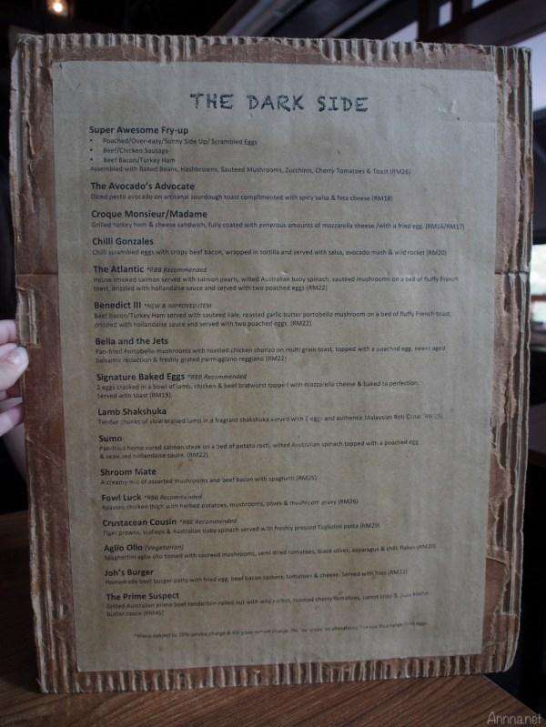 redbeanbag menu