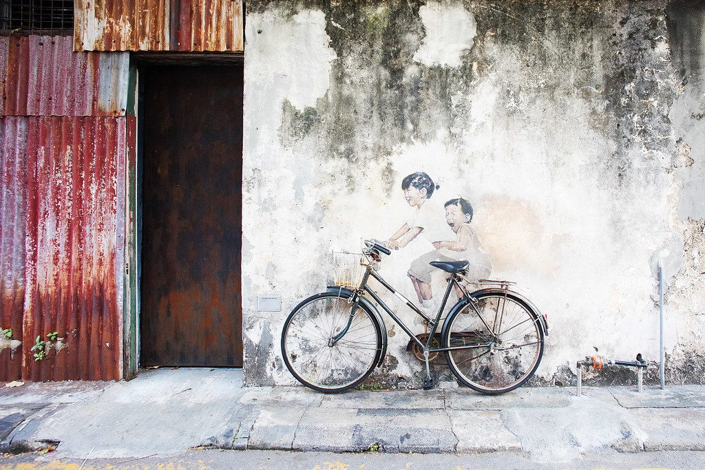 Little Children on a Bicycle, Artist: Ernest Zacharevic.