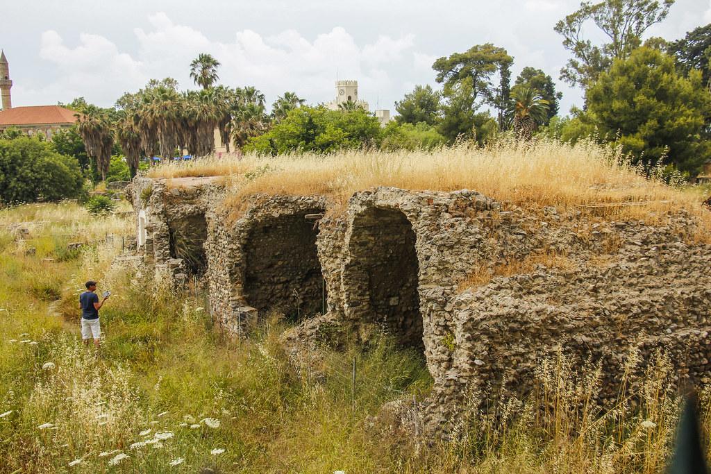 gamle ruiner i Kos by