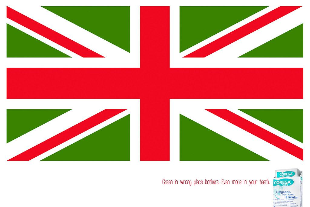 Corega Tabs- UK Flag
