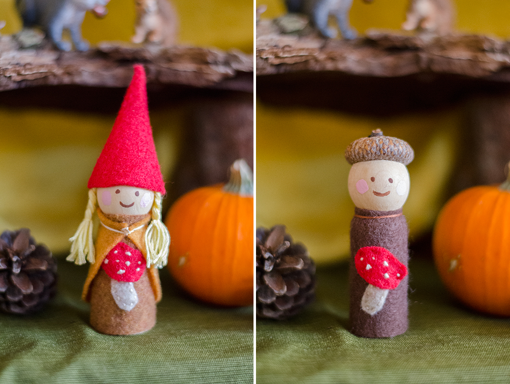 autumn gnome collage